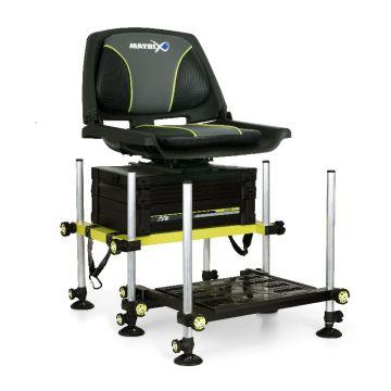 Matrix F25 Seatbox MKII Systeme zwart - limoen witvis visbak