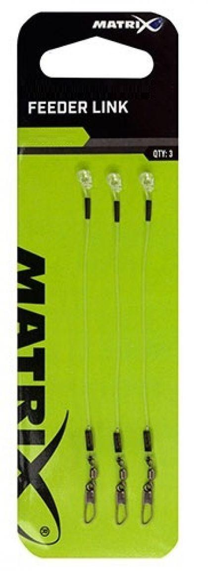 Matrix Feeder Links nickel - clear klein vismateriaal 6cm 0.65mm