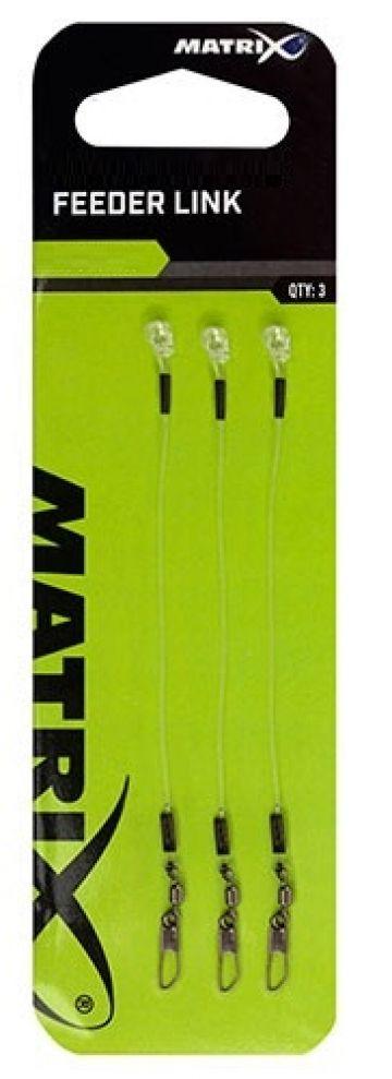 Matrix Feeder Links nickel - clear klein vismateriaal 8cm 0.65mm