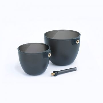 Matrix Groundbait Cup Set grijs - clear witvis viskatapult