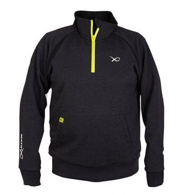 Matrix Minimal Black Marl 1/4 Zip Sweater grijs - zwart - geel vistrui X-large