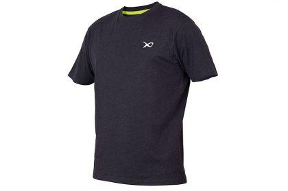 Matrix Minimal Black Marl T-Shirt zwart - grijs vis t-shirt Large