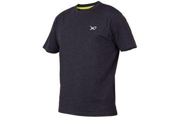 Matrix Minimal Black Marl T-Shirt zwart - grijs vis t-shirt Small