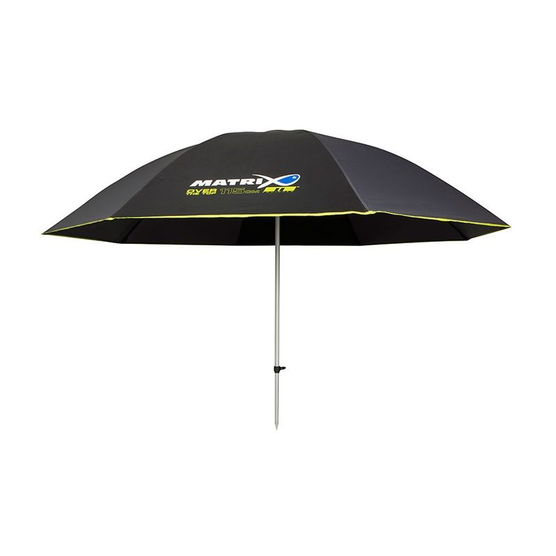 Matrix Over The Top Brolly zwart - grijs - groen visparaplu 115cm