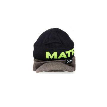 Matrix Peaked Beanie zwart - grijs - groen muts
