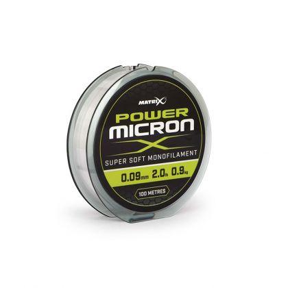 Matrix Power Micron X clear visdraad 0.09mm 100m 0.9kg