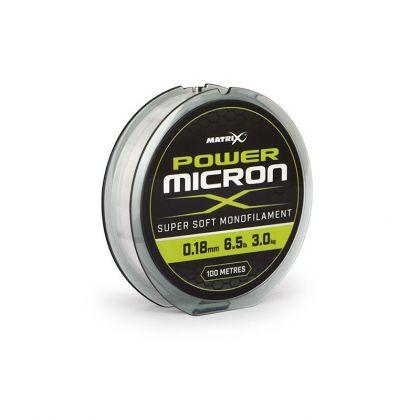 Matrix Power Micron X clear visdraad 0.18mm 100m 3.0kg