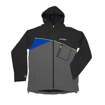 Matrix Soft Shell Jacket zwart - grijs visjas Large