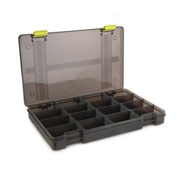 Matrix Storage Box 16 Compartiments Shallow grijs visdoos