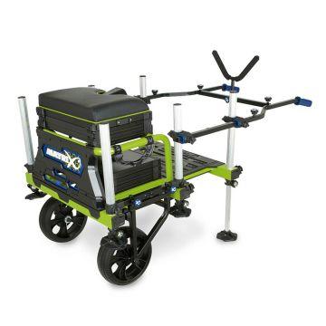 Matrix Superbox 2 Wheel Transporter zwart witvis viskar