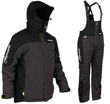 Matrix Winter Suit zwart - grijs warmtepak Small