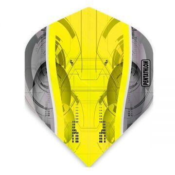 Mckicks Pentathlon Silver Edge Yellow Standard zilver - geel 100 Micron