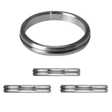 Mission F-Lock Titanium Silver Rings argent 1mm