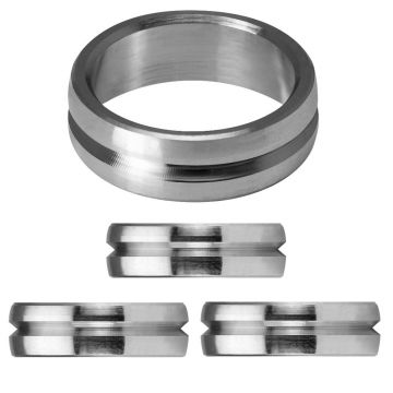 Mission F-Lock Titanium Silver Rings argent 2mm