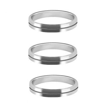 Mission S-Lock Aluminium Rings zilver 1mm