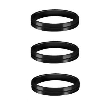 Mission S-Lock Aluminium Rings zwart 1mm