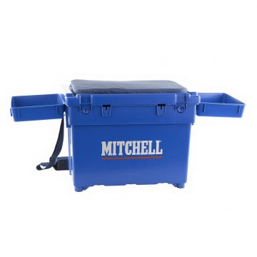 Mitchell Saltwater Seat Box blauw zeevis visbak