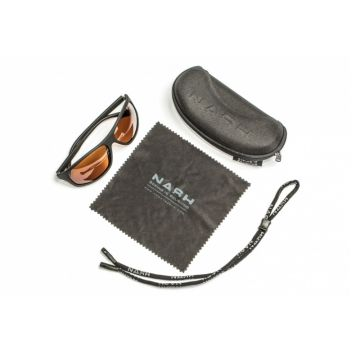 Nash Amber Wraps amber - bruin viszonnenbril