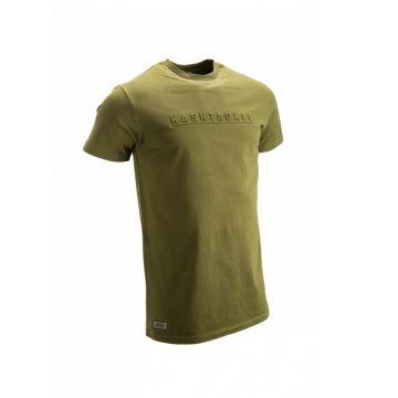 Nash Emboss T-Shirt groen vis t-shirt Medium