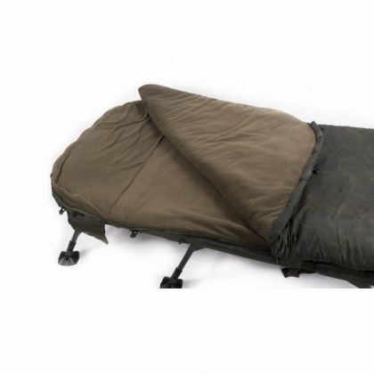Nash Indulgence 4 Season Sleeping Bag camo slaapzak visbed Wide