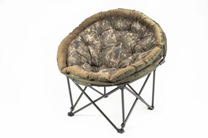 Nash Indulgence Moon Chair groen - bruin visstoel karperstoel