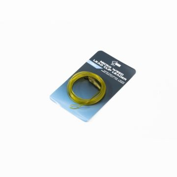Nash Lead Clip Leaders Diffusion Camo transparant - weed karper lood systeem 1m50