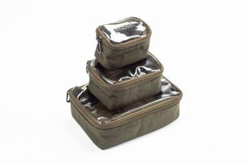 Nash Pouch Set groen - bruin karper karpertas