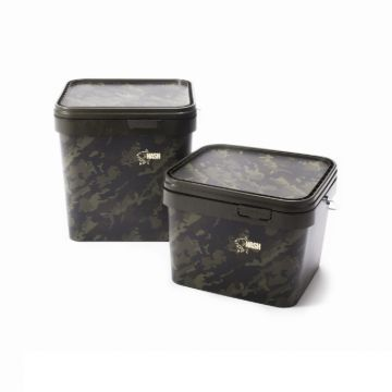 Nash Rectangular Bucket camouflage visemmer 17l