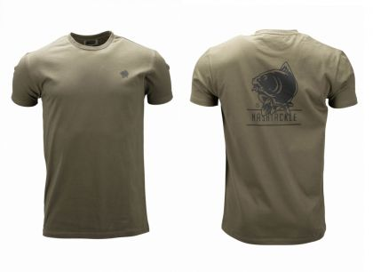 Nash Tackle T-Shirt groen - zwart vis t-shirt Large