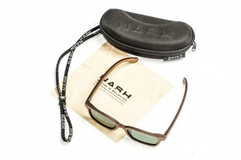 Nash Timber Sunglasses groen - bruin viszonnenbril
