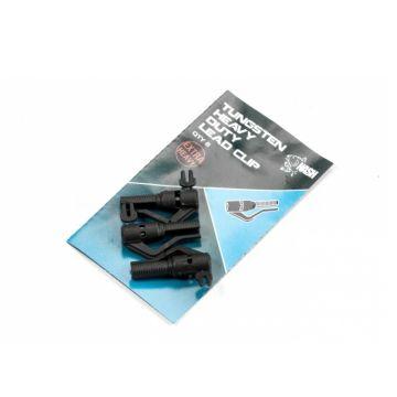 Nash Tungsten Heavy Duty Lead Clip zwart karper lood systeem