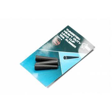 Nash Tungsten Heavy Duty Tail Rubber zwart karper lood systeem