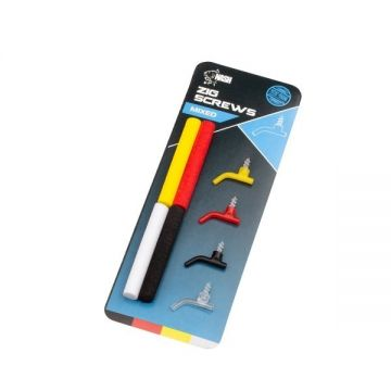 Nash Zig Screws 4-kleuren karper oppervlakte visserij