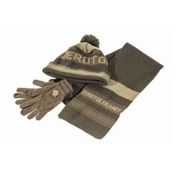 Nash ZT Hat Scarf & Gloves Set groen - bruin sjaal