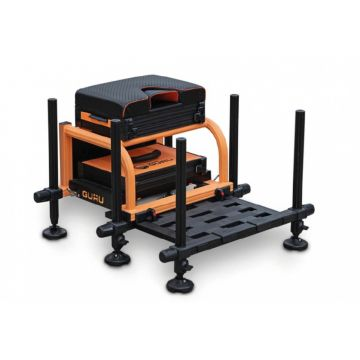 Orange Team Guru Seatbox 2.0 zwart - oranje witvis visbak D25