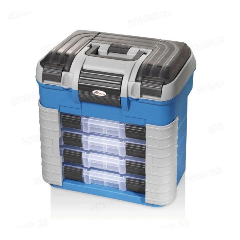 Panaro Superbox Opberg + Zitkist bleu - gris