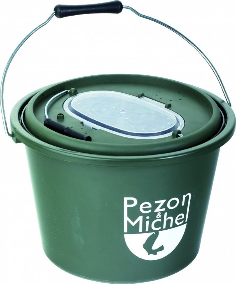 Pezon & Michel Aasvis Emmer P&M groen - wit visemmer 12l