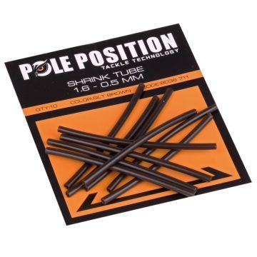 Pole Position Shrink Tube silt brown karper klein vismateriaal 1.6mm