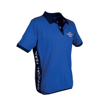 Polo COLMIC Official Team blauw - wit - rood vis t-shirt X-large