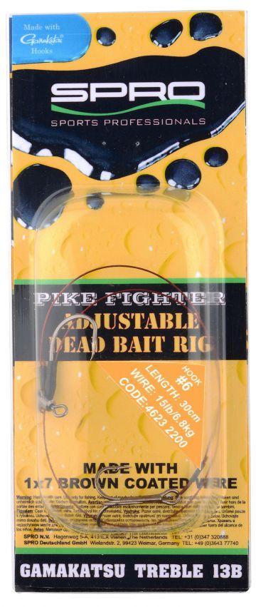 Predator Adjustable Dead Bait Rig Type A bruin - nickel roofvis roofvis onderlijn 30cm H6