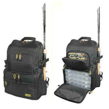 Predator Backpack zwart roofvis roofvistas 27x21x41cm