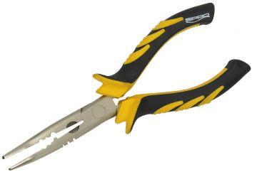 Predator Bent Nose Pliers geel - zwart - nickel tang & schaar 18cm