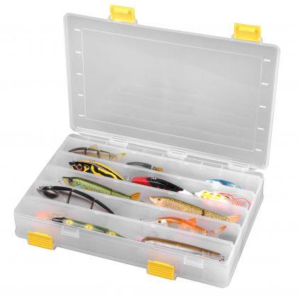 Predator Hard Baits Box transparant - geel roofvis visdoos 35.5x24x6.2cm