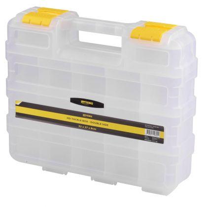 Predator HD Tackle Box Double Side transparant - geel roofvis visdoos 32x27x8cm
