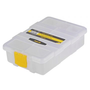 Predator HD Tackle Box transparant - geel roofvis visdoos 22x15.5x6cm