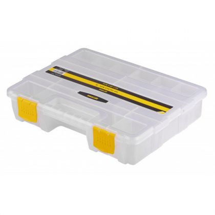 Predator HD Tackle Box transparant - geel roofvis visdoos 22x29x6cm