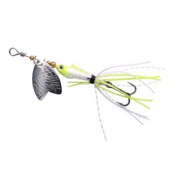 Predator Larva Mayfly Micro Spinner uv pearl vislepel 5cm 4g Treble 10