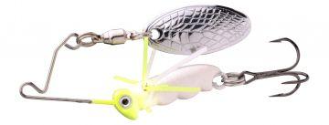 Predator Larva Micro Spinnerbait uv pearl roofvis spinnerbait 4cm 7g Treble 10