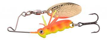 Predator Larva Micro Spinnerbait uv sunburst roofvis spinnerbait 4cm 7g Treble 10