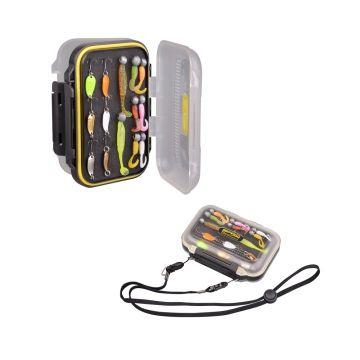 Predator Mobile Stocker zwart - geel roofvis visdoos 16x10.3x4.6cm